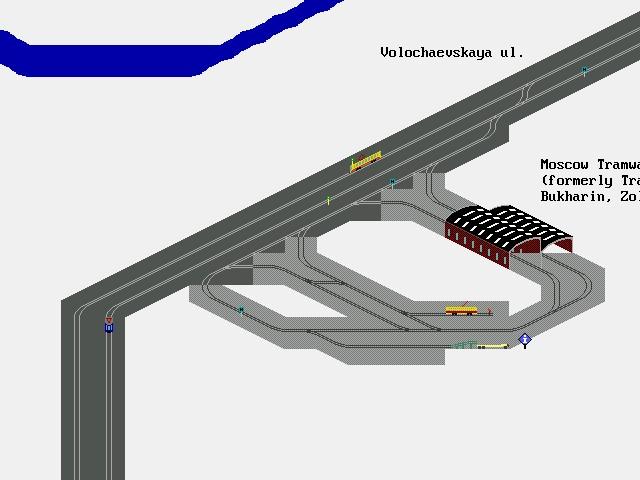 Схема путей на ТРЗ условная.